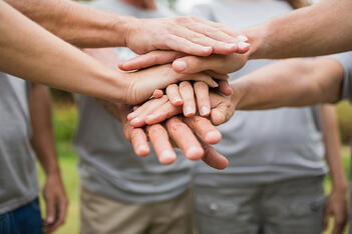 Hands  - working together
